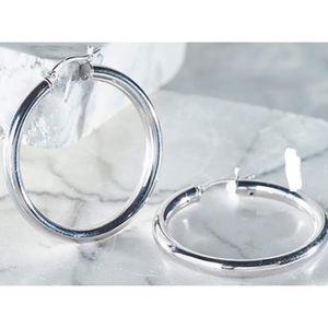 🎀• .925 Stamped Sterling Silver Hoop Earrings